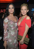 Katy Perry and Kate Hudson stepped out in LA for the amfAR Gala.