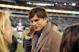 Ashton Kutcher at the NY Jets game.