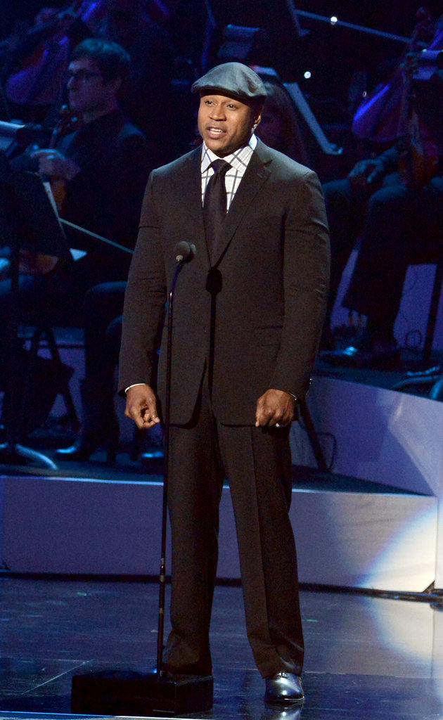 LL Cool J paid tribute to Whitney Houston in LA.
