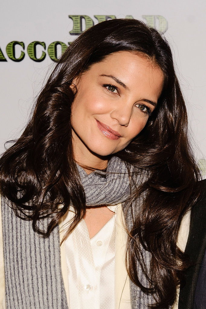 Katie Holmes flashed a smile.