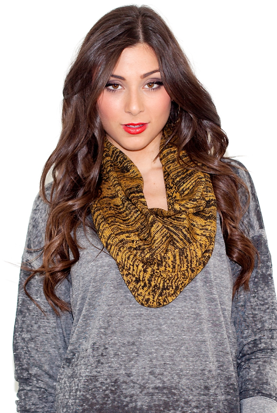 It's a little bit funky — and totally soft — so we're fine with taking on this dynamic Kerisma circle scarf ($25).