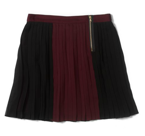 Capitalize on Fall's burgundy hues with this Club Monaco Tessa Skirt ($150) and top it off with a leather jacket to achieve that effortless downtown cool.