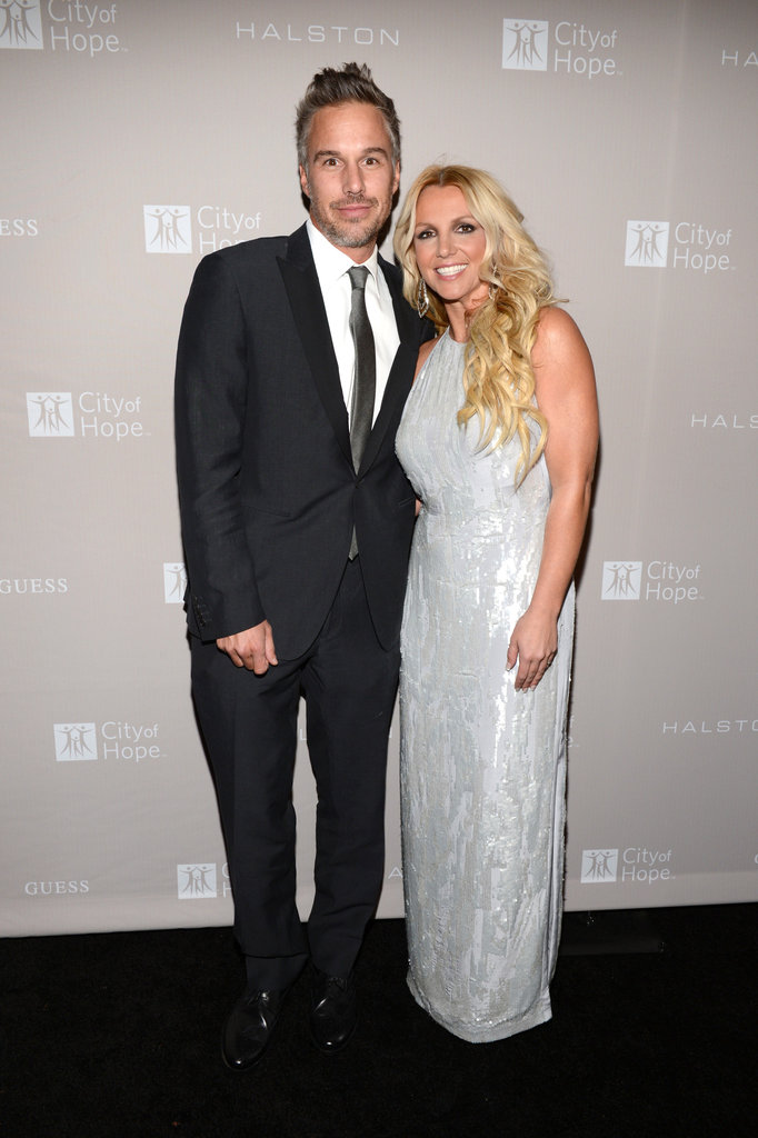 Britney Spears and fiancé Jason Trawick attended the City of Hope event in Los Angeles on October 10, honouring Halston CEO Ben Malka.