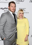 Chris Pratt and Anna Faris posed on the red carpet of the Reel Stories, Real Lives event in LA together.