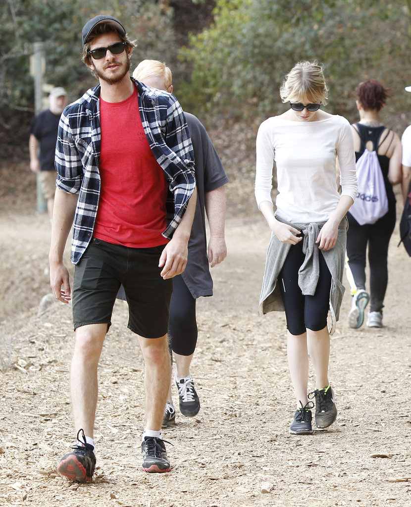 Andrew Garfield and Emma Stone hiked.