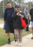 She looked excited at son Deacon Phillippe's soccer game with Jim Toth in October 2012.
