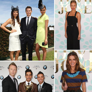 Caulfield Cup Races: Celebrities Lara Bingle, Jason Dundas, Kate Waterhouse, Jessica Gomez, Samantha Harris, Firass Dirani