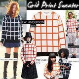 Grid-Print Sweater Trend Fall 2012 | J.W. Anderson