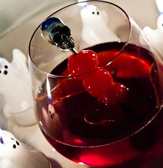 Scary Cherry Fizz Punch