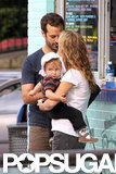 Natalie Portman and Benjamin Millepied got ice cream with their son, Aleph.