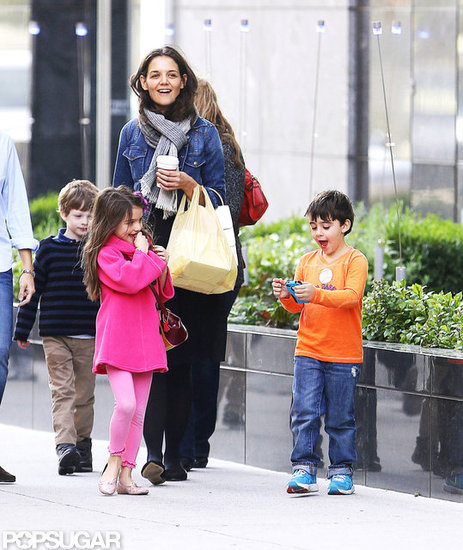 Katie Holmes and Suri Cruise went out for a walk in NYC.