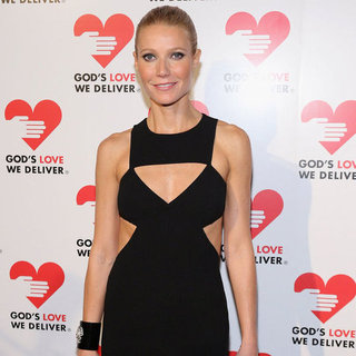 Gwyneth Paltrow in Black Cutout Dress at Golden Heart Gala