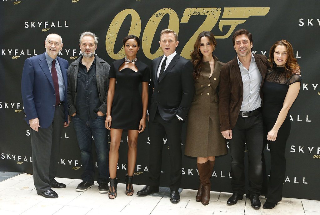 Daniel and Javier Pose With Bond Girls For Skyfall's First US Photocall