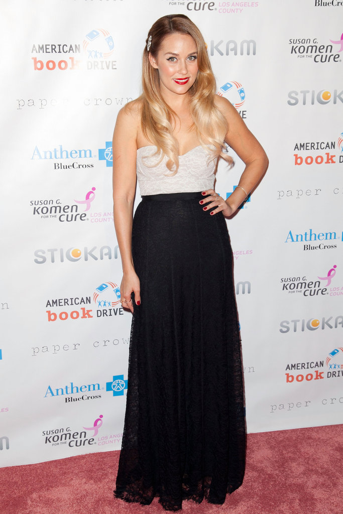 Lauren Conrad stepped out at the Susan G. Komen foundation's Designs For the Cure gala in LA.