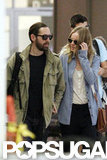 Kate Bosworth and Michael Polish both wore sunglasses.