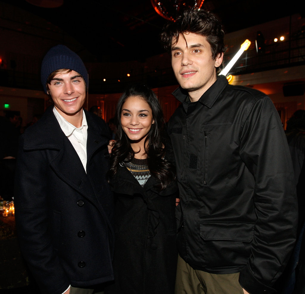 John Mayer posed for a photo with Vanessa Hudgens, and Zac Efron, during a 2007 LA afterparty for Walk Hard.