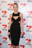 Gwyneth Paltrow wore a cutout black dress at the Michael Kors Golden Heart Gala in NYC.