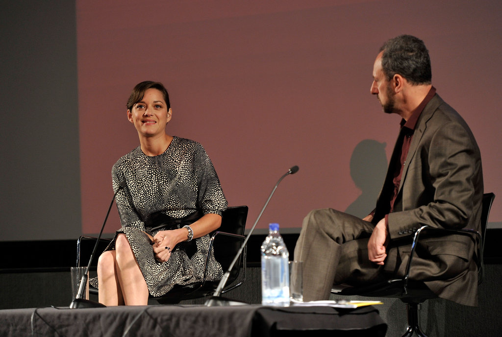 Marion Cotillard appeared at a screen talk in London.