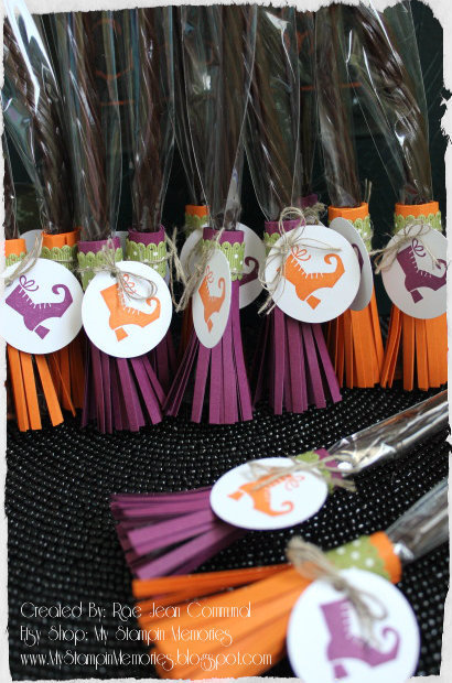 Broom Party Favor Treat Bags