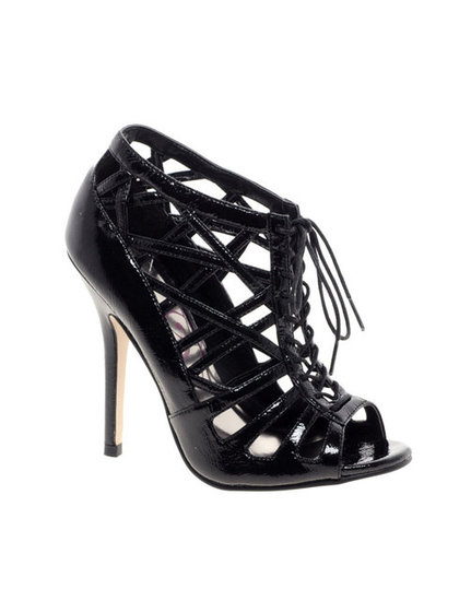 The lace-up detail isn't the only sultry feature on this Lipsy Shezza shoe ($109, originally $130) — the slick black patent-leather finish and latticed detailing give it extra flair.