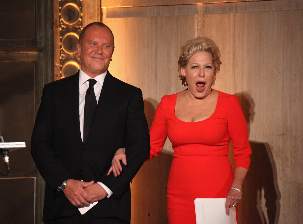 Bette Midler and Michael Kors appeared on stage at the Golden Heart Gala.