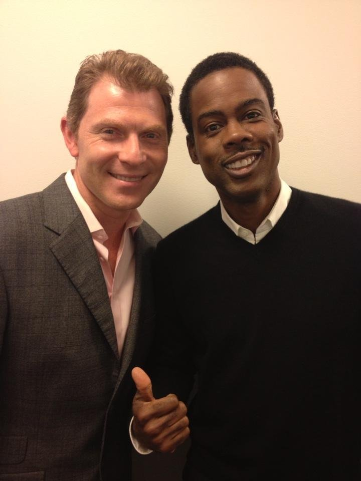 Bobby Flay and Chris Rock posed together at an event. Source: Twitter user bflay