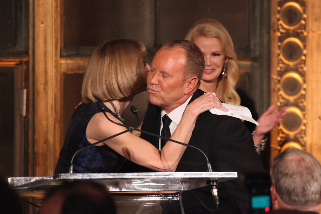 Michael Kors appeared on stage with Anna Wintour at the Michael Kors Golden Heart Gala in NYC.