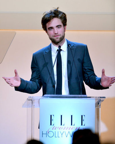 Robert Pattinson stepped out in LA for Elle's Women in Hollywood Awards.