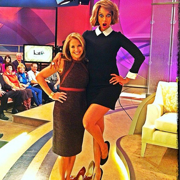 Tyra Banks made an appearance on Katie with Katie Couric. Source: Instagram user tyrabanks