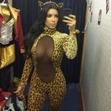 Kim Kardashian showed off her sexy Halloween costume. Source: Instagram user kimkardashian