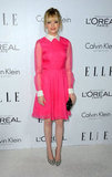 Emma Stone wore a Valentino Resort 2013 dress at the Elle Women in Hollywood Awards in LA.
