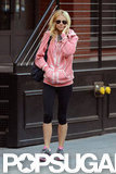 Gwyneth Paltrow walked to the gym in NYC.