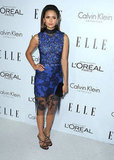Nina Dobrev wore a Vera Wang dress at the Elle Women in Hollywood Awards in LA.