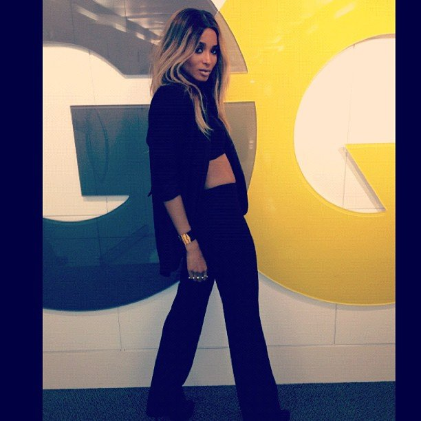 Ciara strutted her stuff at the GQ magazine headquarters. Source: Instagram user ciara