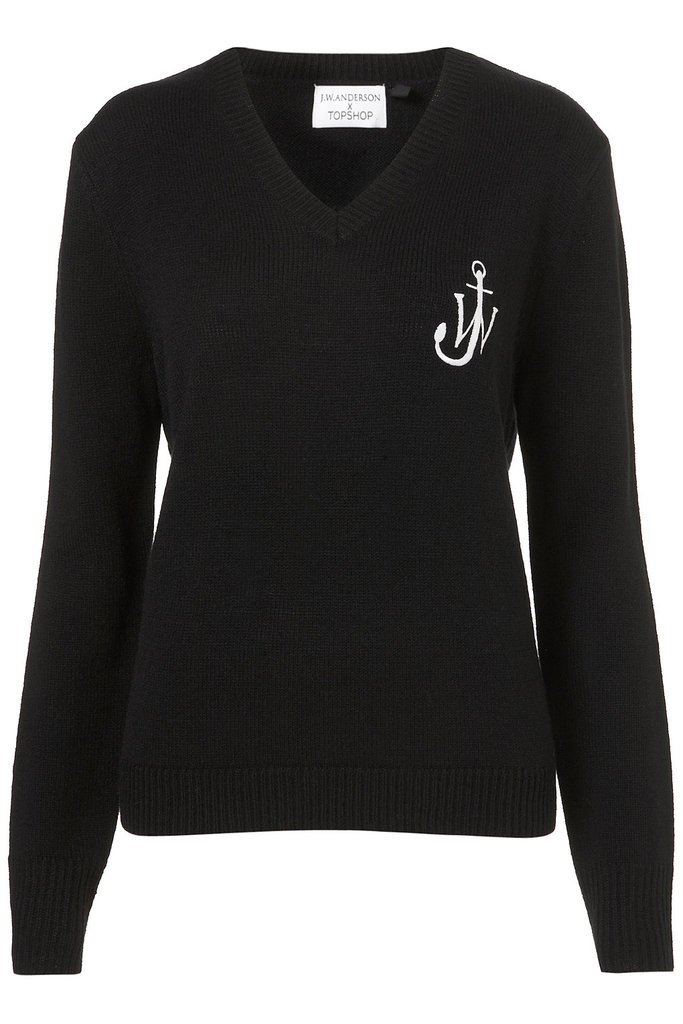 It's all about the embroidered motif that makes this limited-edition J.W. Anderson For Topshop V-neck sweater ($100) a shoo-in for preppy layering.