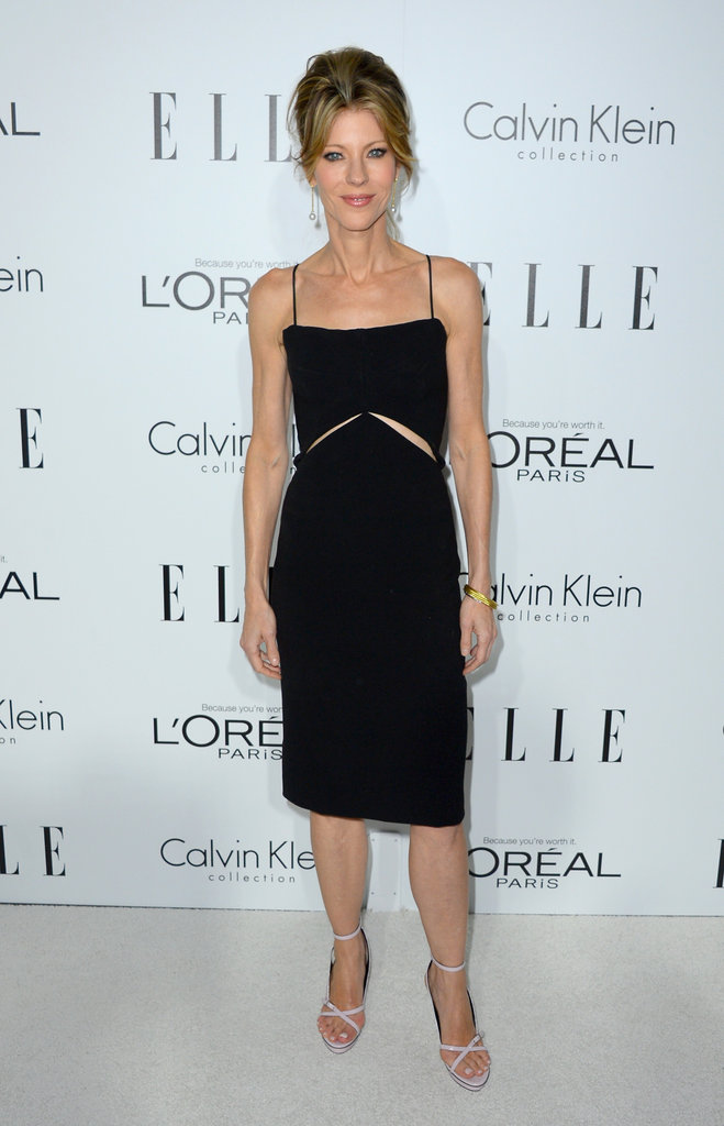 Elle's Robbie Myers chose a subtle black cutout cocktail dress.