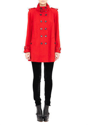 The gorgeous red hue makes this Nicole Miller Modern Double Breasted Coat ($210) extra special.