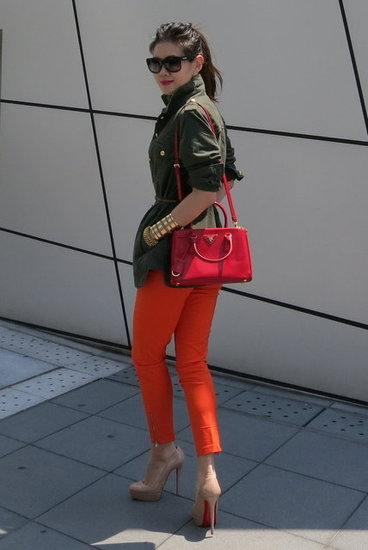 Military inspired + Red Accents