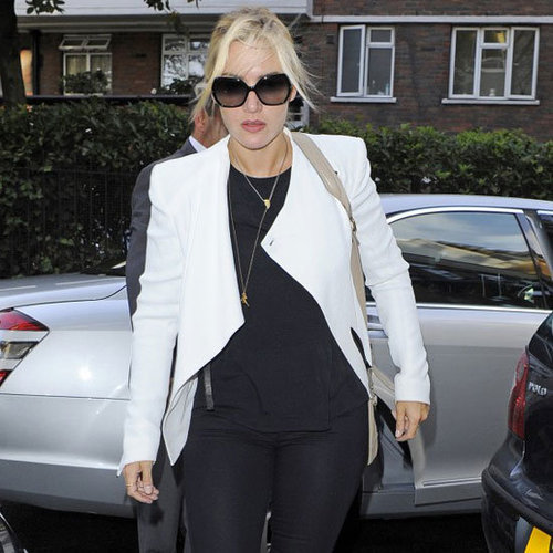 Kate Winslet Wearing White Blazer