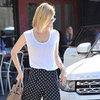 January Jones Wearing Polka-Dot Pants