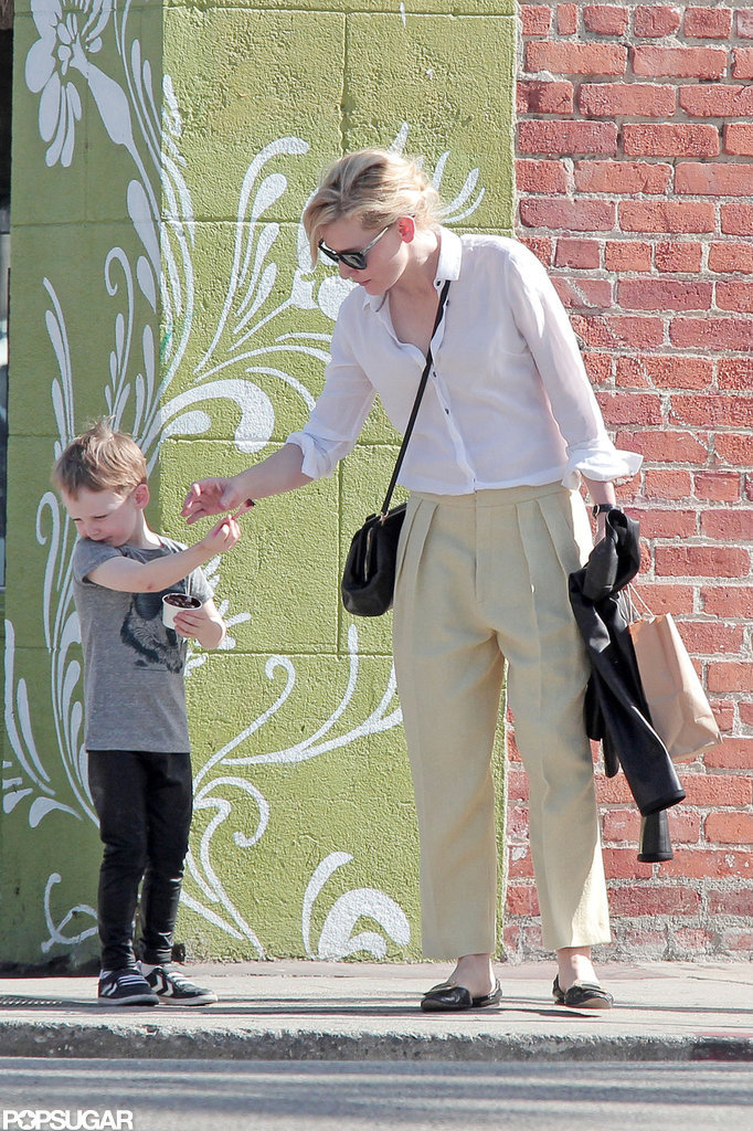 Cate Blanchett and her son Ignatius walked around LA.