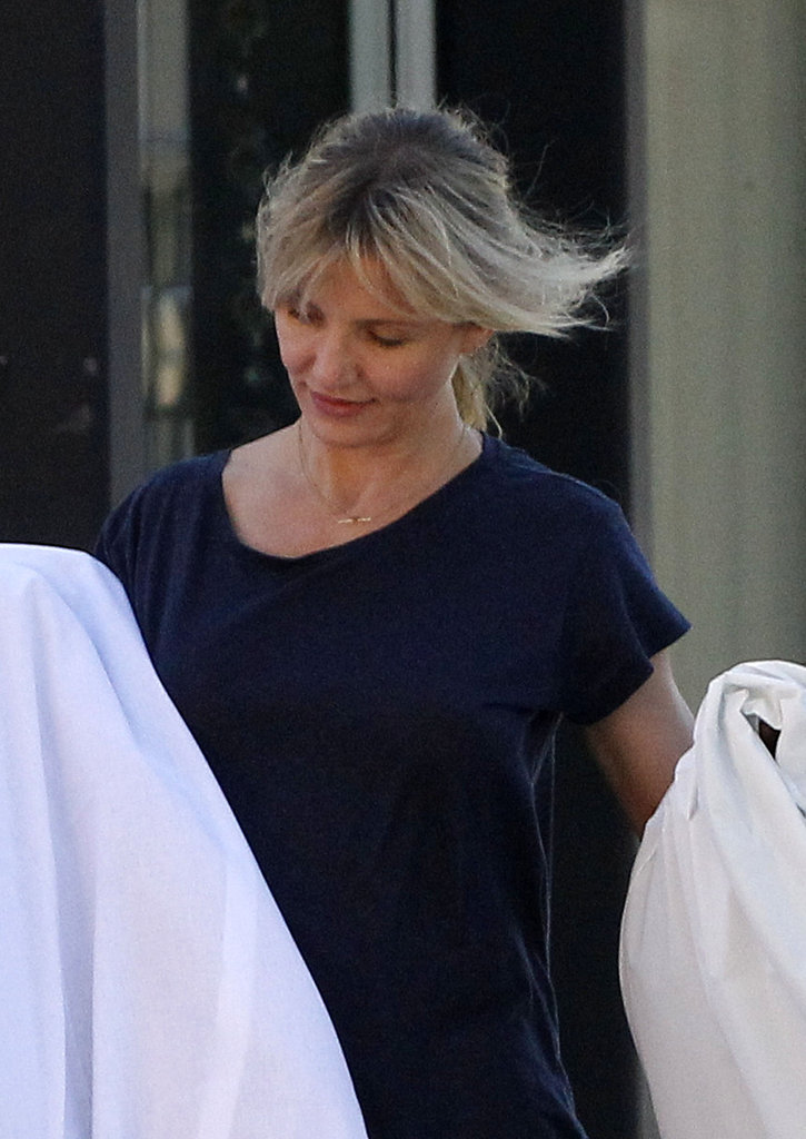 Cameron Diaz went shopping in California.