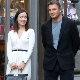 Liam Neeson and Olivia Wilde Filming in Rome | Pictures