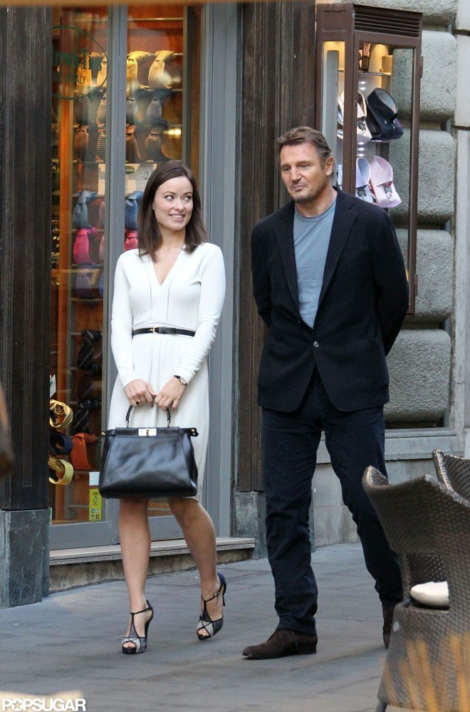 Olivia Wilde and Liam Neeson filmed a scene from The Third Person in Rome.
