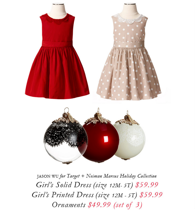 Jason Wu for Target + Neiman Marcus holiday collection.