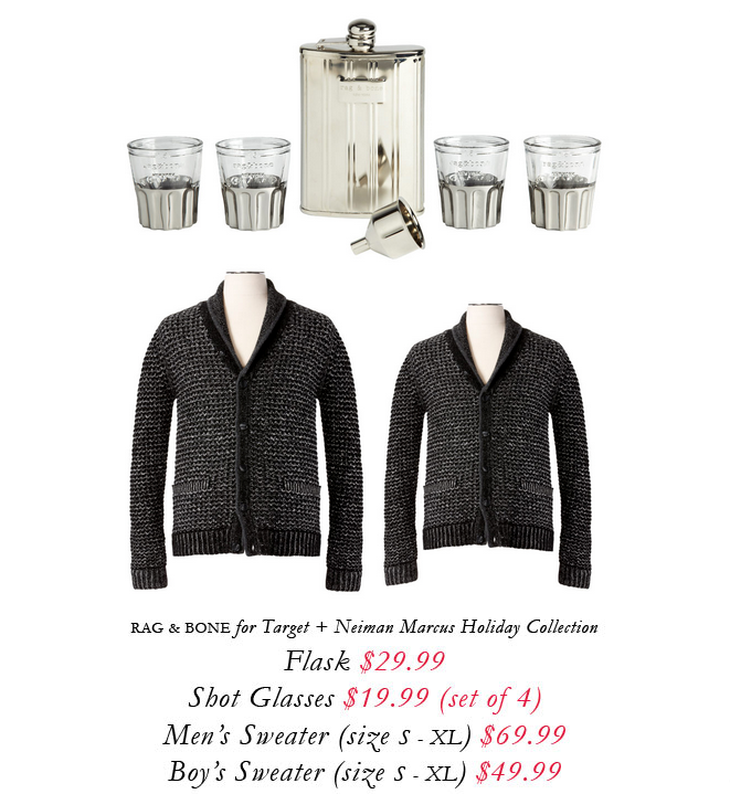 Rag & Bone for Target + Neiman Marcus holiday collection.