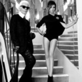 Victoria Beckham and Karl Lagerfeld Photo Shoot