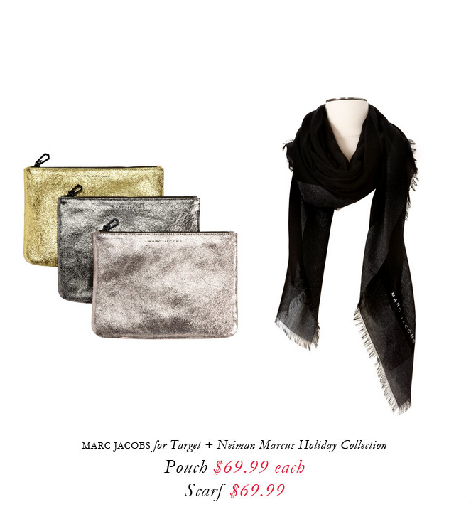 Marc Jacobs for Target + Neiman Marcus holiday collection.