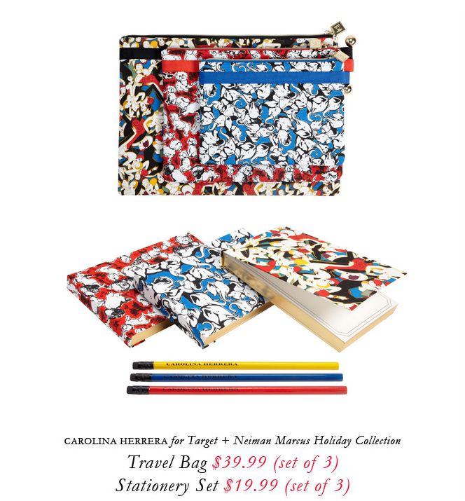 Carolina Herrera for Target + Neiman Marcus holiday collection.