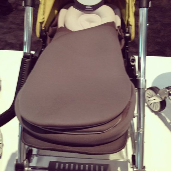 Mamas and Papas is introducing the Cocoon, a stroller bunting that uses magnets to close so baby won't wake up when you bundle her up!